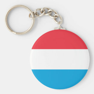 Low Cost! Luxembourg Flag Basic Round Button Keychain