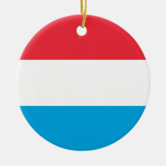 Low Cost! Luxembourg Flag Ceramic Ornament