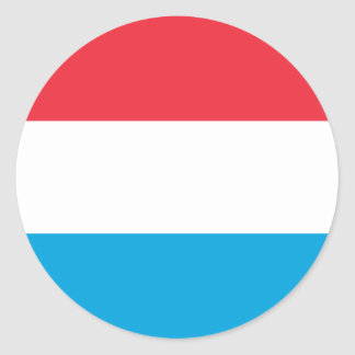 Low Cost! Luxembourg Flag Classic Round Sticker