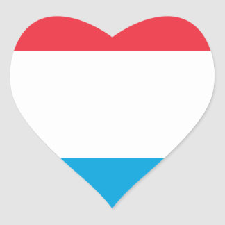 Low Cost! Luxembourg Flag Heart Sticker