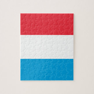 Low Cost! Luxembourg Flag Jigsaw Puzzle