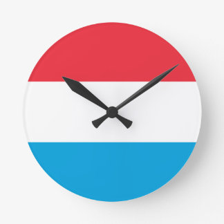 Low Cost! Luxembourg Flag Round Clock