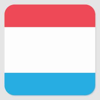Low Cost! Luxembourg Flag Square Sticker