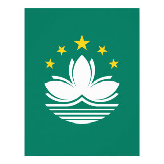 Low Cost! Macau Flag Letterhead