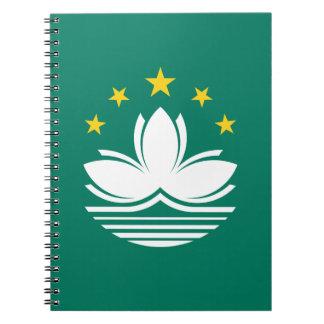 Low Cost! Macau Flag Notebook