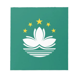 Low Cost! Macau Flag Notepad