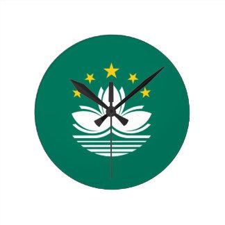 Low Cost! Macau Flag Round Clock