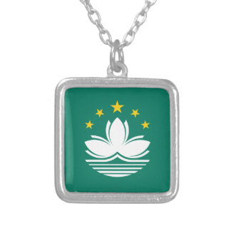 Low Cost! Macau Flag Silver Plated Necklace