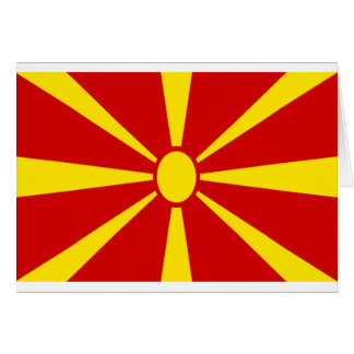 Low Cost! Macedonia Flag Card