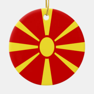 Low Cost! Macedonia Flag Ceramic Ornament