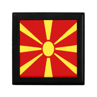 Low Cost! Macedonia Flag Gift Box