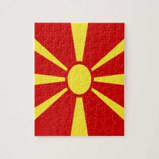 Low Cost! Macedonia Flag Jigsaw Puzzle
