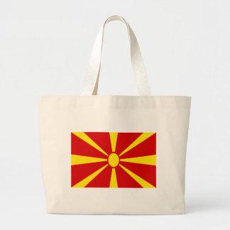 Low Cost! Macedonia Flag Large Tote Bag