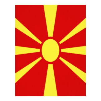 Low Cost! Macedonia Flag Letterhead