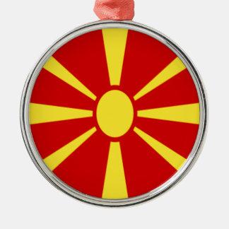 Low Cost! Macedonia Flag Metal Ornament