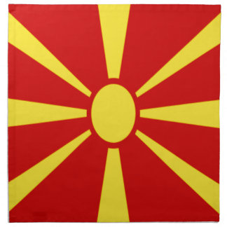Low Cost! Macedonia Flag Napkin