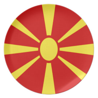 Low Cost! Macedonia Flag Plate