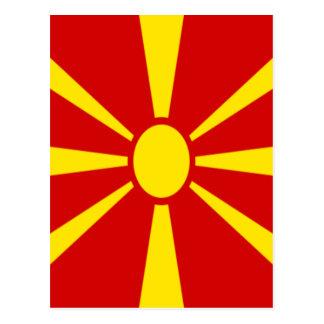 Low Cost! Macedonia Flag Postcard