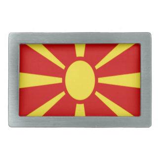 Low Cost! Macedonia Flag Rectangular Belt Buckle