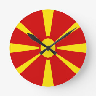 Low Cost! Macedonia Flag Round Clock