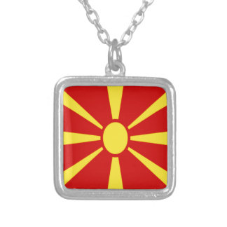 Low Cost! Macedonia Flag Silver Plated Necklace