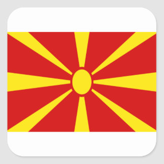 Low Cost! Macedonia Flag Square Sticker