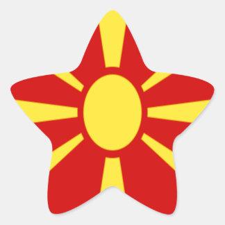 Low Cost! Macedonia Flag Star Sticker