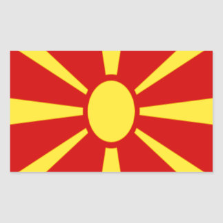 Low Cost! Macedonia Flag Sticker