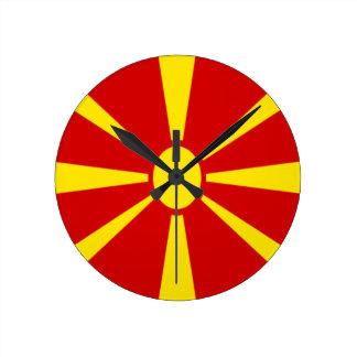 Low Cost! Macedonia Flag Wall Clock