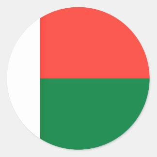 Low Cost! Madagascar Flag Classic Round Sticker