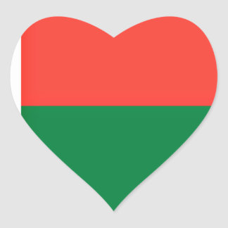 Low Cost! Madagascar Flag Heart Sticker