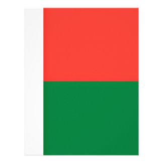 Low Cost! Madagascar Flag Letterhead