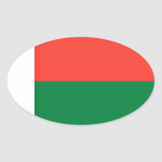 Low Cost! Madagascar Flag Oval Sticker