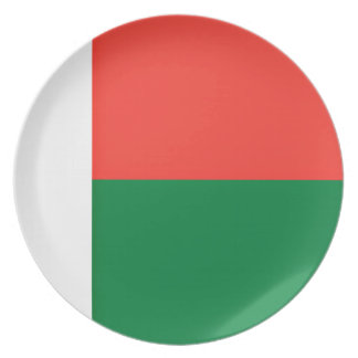 Low Cost! Madagascar Flag Plate