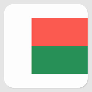 Low Cost! Madagascar Flag Square Sticker