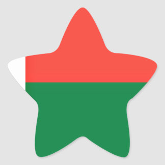 Low Cost! Madagascar Flag Star Sticker