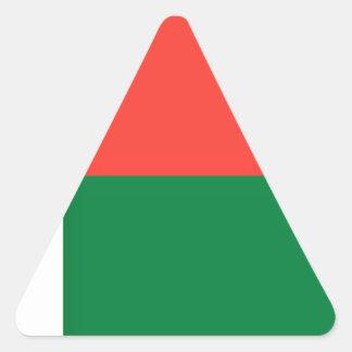 Low Cost! Madagascar Flag Triangle Sticker