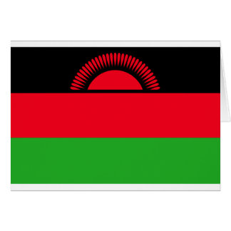 Low Cost! Malawi Flag Card