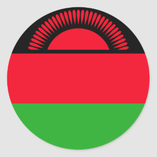 Low Cost! Malawi Flag Classic Round Sticker