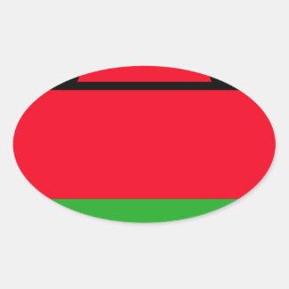 Low Cost! Malawi Flag Oval Sticker