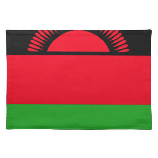 Low Cost! Malawi Flag Placemat