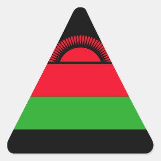 Low Cost! Malawi Flag Triangle Sticker