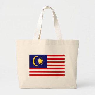 Low Cost! Malaysia Flag Large Tote Bag