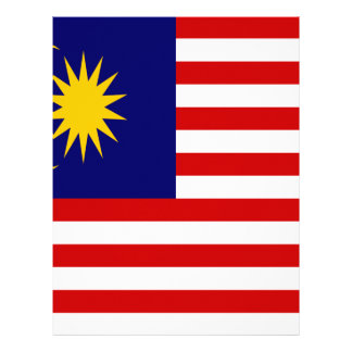 Low Cost! Malaysia Flag Personalized Letterhead