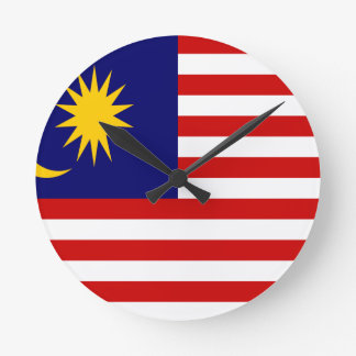 Low Cost! Malaysia Flag Round Clock