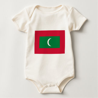 Low Cost! Maldives Flag Baby Bodysuit