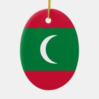 Low Cost! Maldives Flag Ceramic Oval Ornament