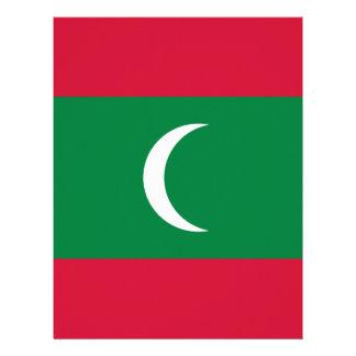 Low Cost! Maldives Flag Custom Letterhead