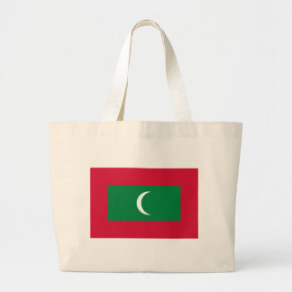 Low Cost! Maldives Flag Large Tote Bag