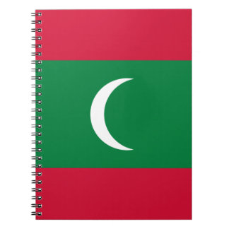 Low Cost! Maldives Flag Notebook
